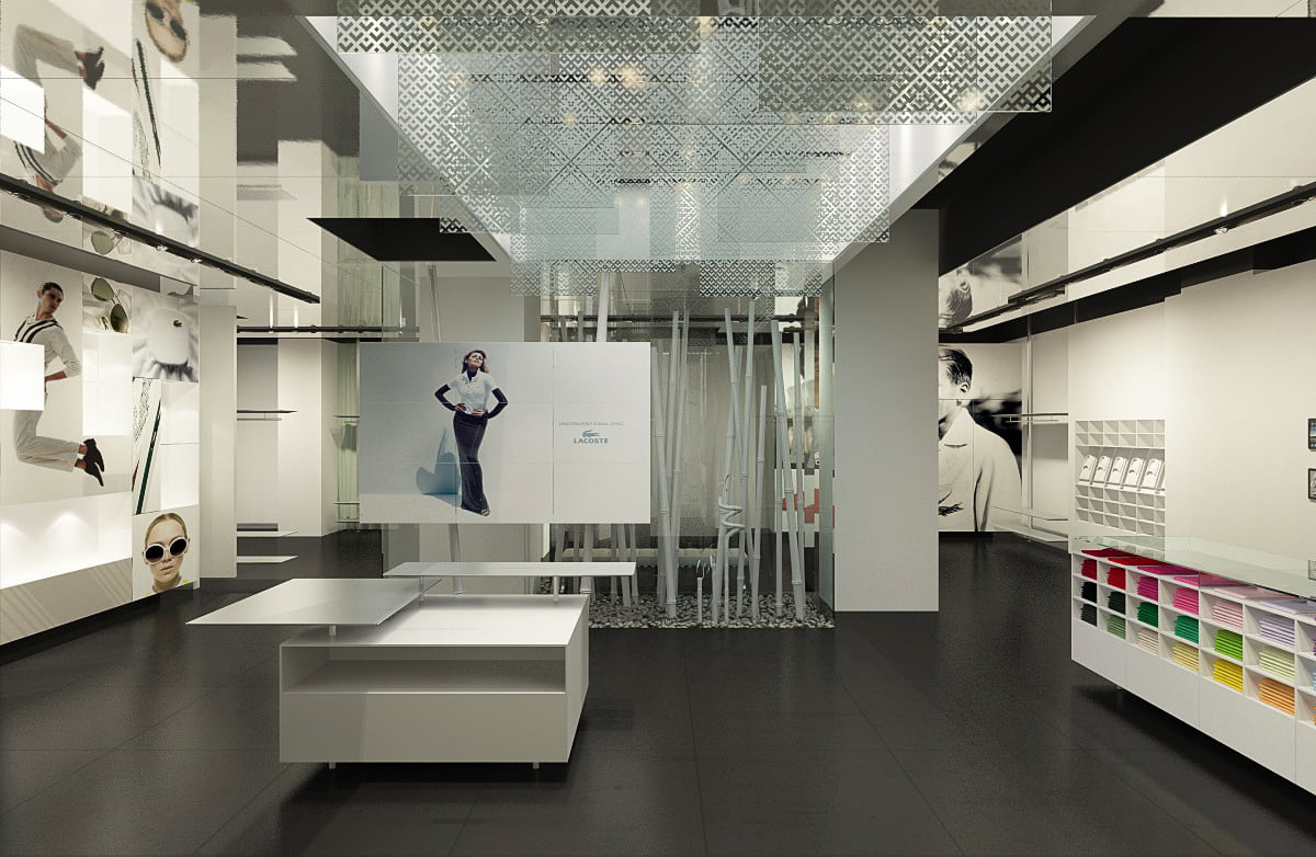 Vip shop de lacoste en paris for Infografia 3d
