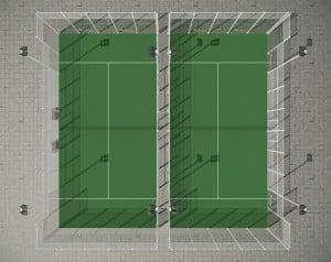 Infografia 3d Construcción Render 3d Planta Pista Padle 5