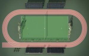 Infografia 3d Construcción Render 3d Exterior Pista Padle 4
